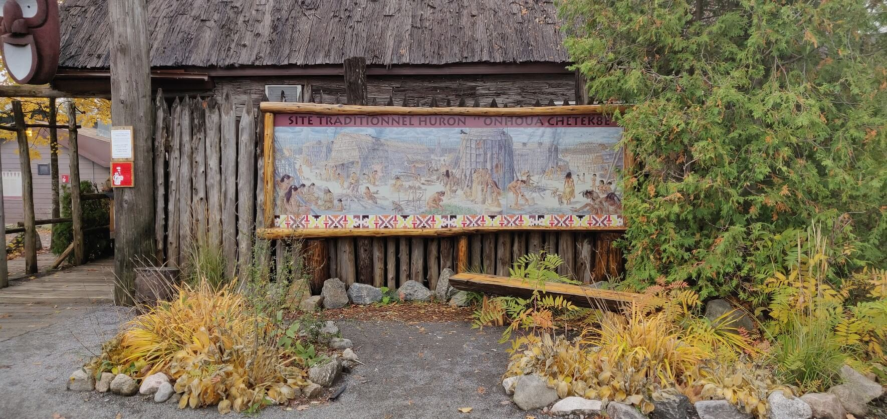 village huron - indien amerique